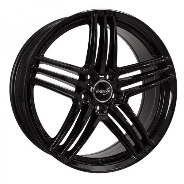 WHEELWORLD WH12 BLACK GLOSSY 5X114 ET45 HB72.6